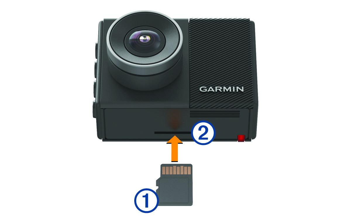 garmin dash cam 45 55 65w installing the memory card. Black Bedroom Furniture Sets. Home Design Ideas