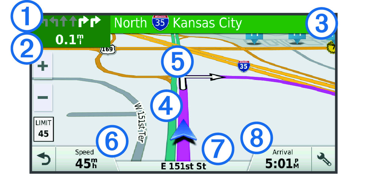Garmin Drive 40/50/60 - Your Route on the Map