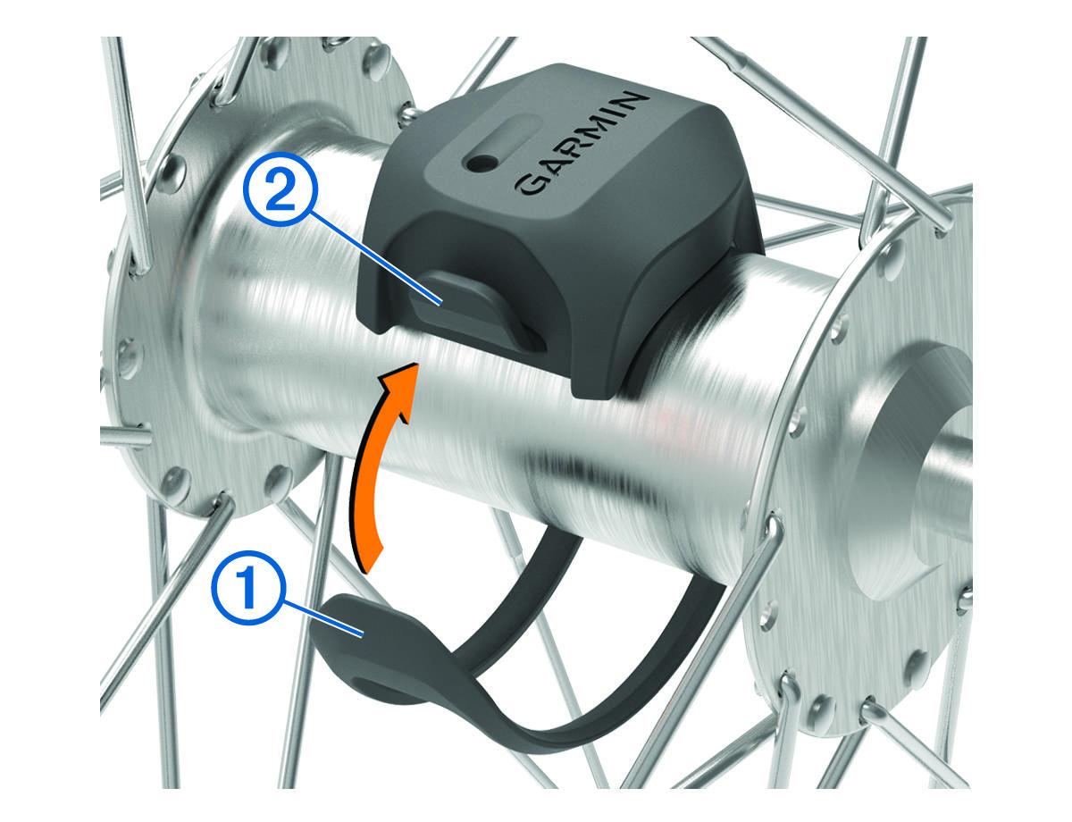 Edge 830 - Instalación del sensor de velocidad